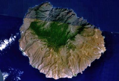 Satellitenbild von La Gomera, Lizenz: https://en.wikipedia.org/wiki/Public_domain